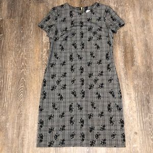 Calvin Klein Plaid Floral Career Sheath Dress 4